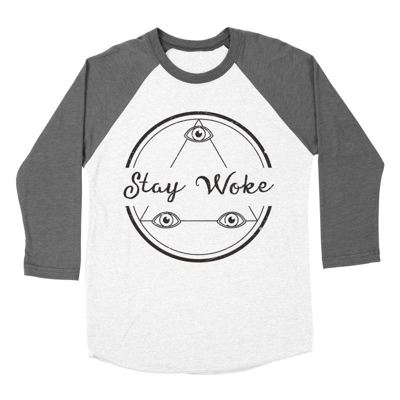 Stay Woke Men's Baseball Triblend T-Shirt by donvagabond's Artist Shop