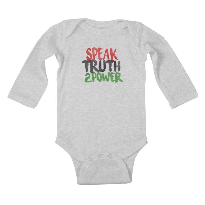Truth 2 Power Kids Baby Longsleeve Bodysuit by donvagabond's Artist Shop
