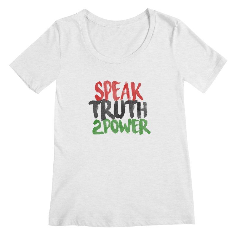 Truth 2 Power Women's Scoopneck by donvagabond's Artist Shop