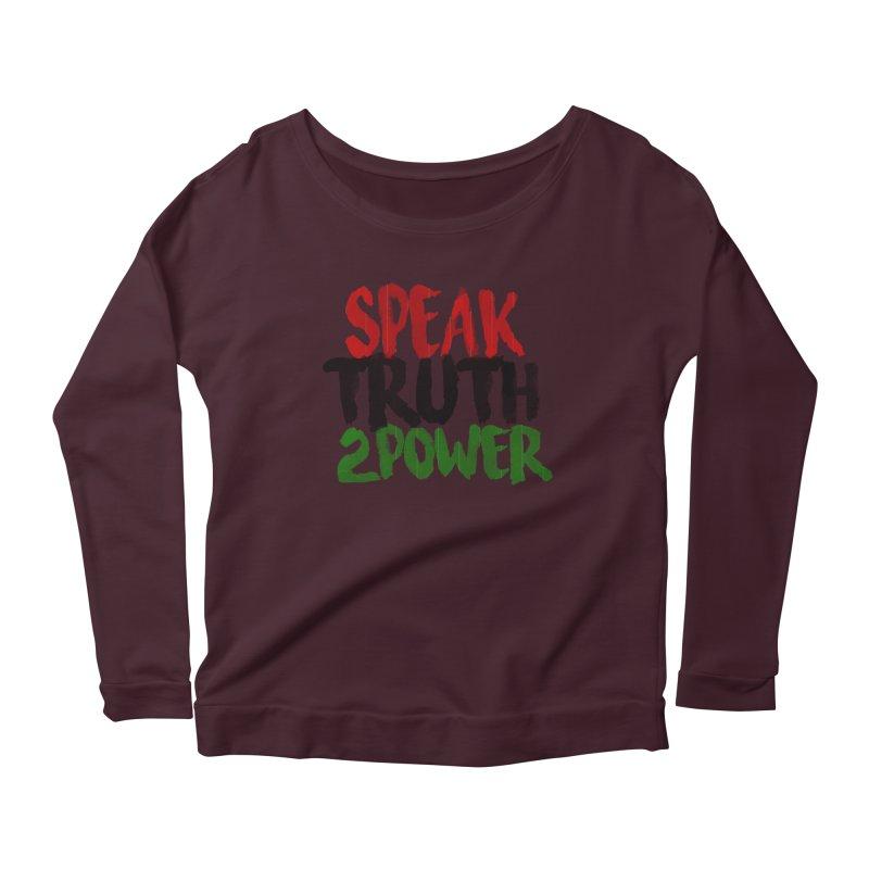 Truth 2 Power Women's Longsleeve Scoopneck  by donvagabond's Artist Shop