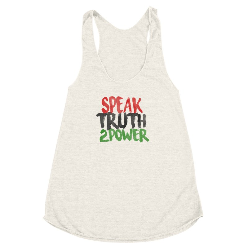 Truth 2 Power Women's Racerback Triblend Tank by donvagabond's Artist Shop