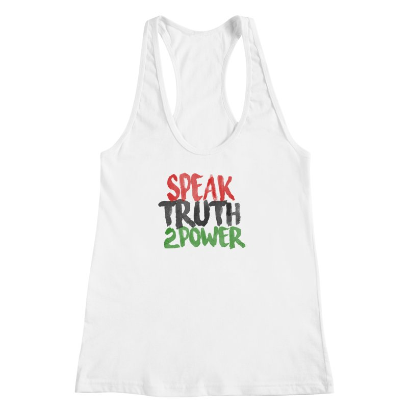 Truth 2 Power Women's Racerback Tank by donvagabond's Artist Shop