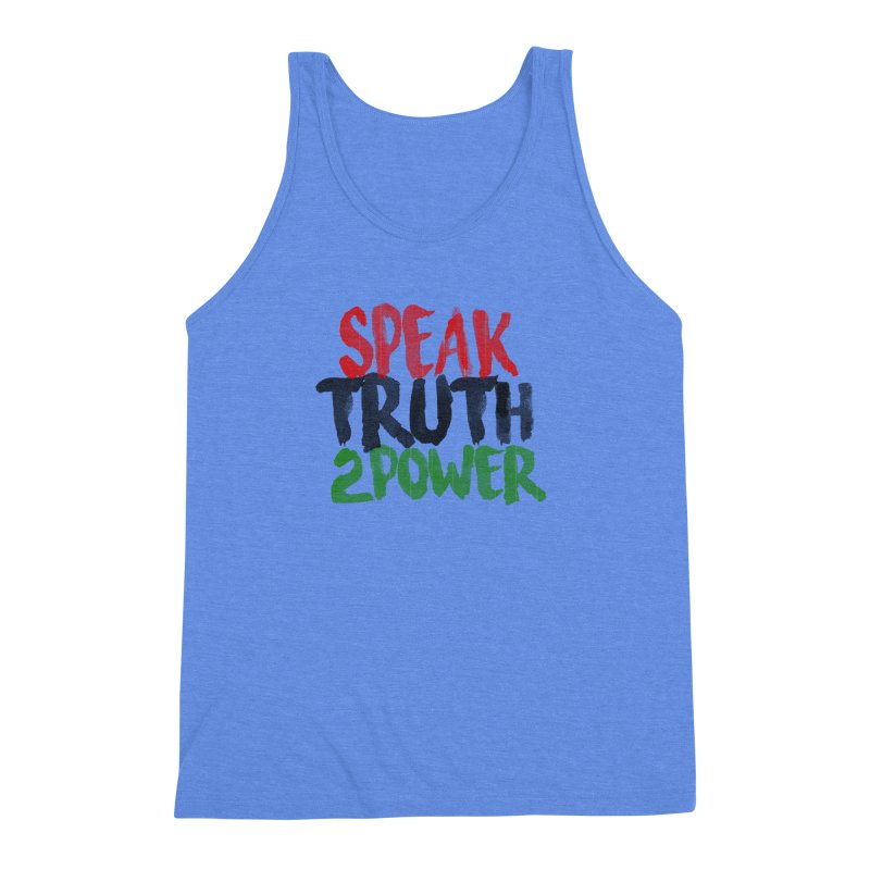 Truth 2 Power Men's Triblend Tank by donvagabond's Artist Shop