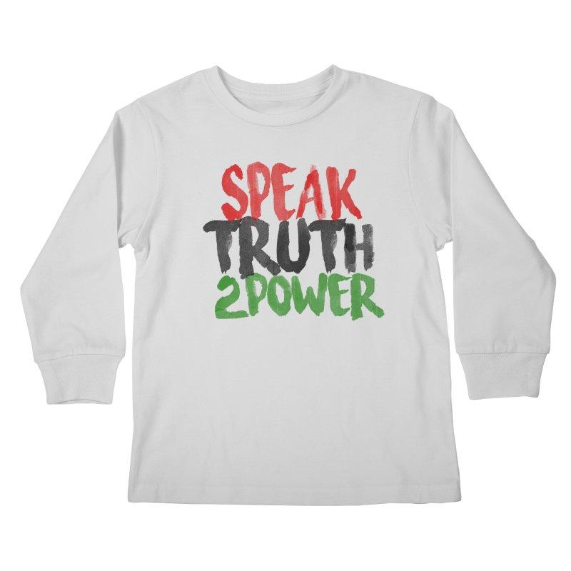 Truth 2 Power Kids Longsleeve T-Shirt by donvagabond's Artist Shop