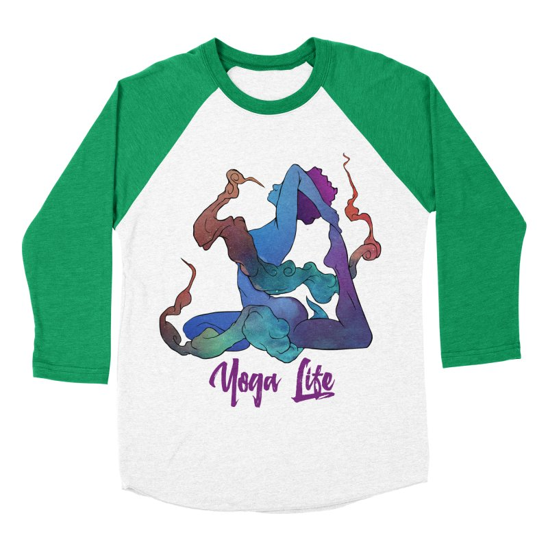 Yoga Life Men's Baseball Triblend T-Shirt by donvagabond's Artist Shop