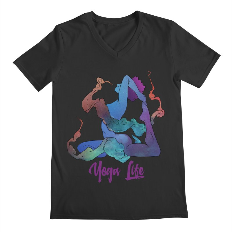 Yoga Life Men's V-Neck by donvagabond's Artist Shop