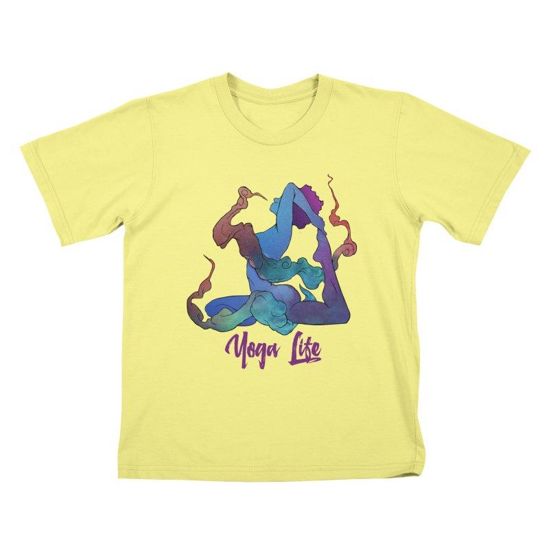 Yoga Life Kids T-shirt by donvagabond's Artist Shop