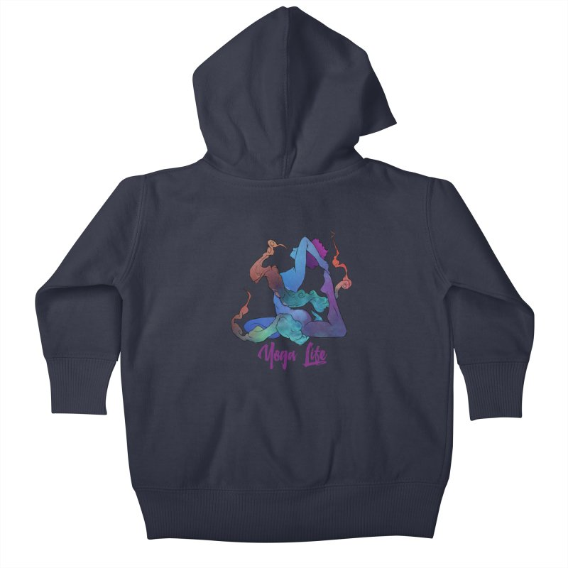 Yoga Life Kids Baby Zip-Up Hoody by donvagabond's Artist Shop