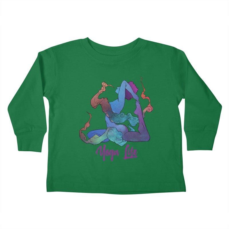 Yoga Life Kids Toddler Longsleeve T-Shirt by donvagabond's Artist Shop