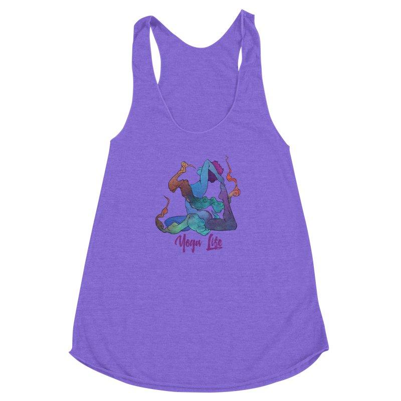 Yoga Life Women's Racerback Triblend Tank by donvagabond's Artist Shop