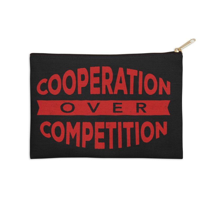 Cooperation Over Competition Accessories Zip Pouch by donvagabond's Artist Shop