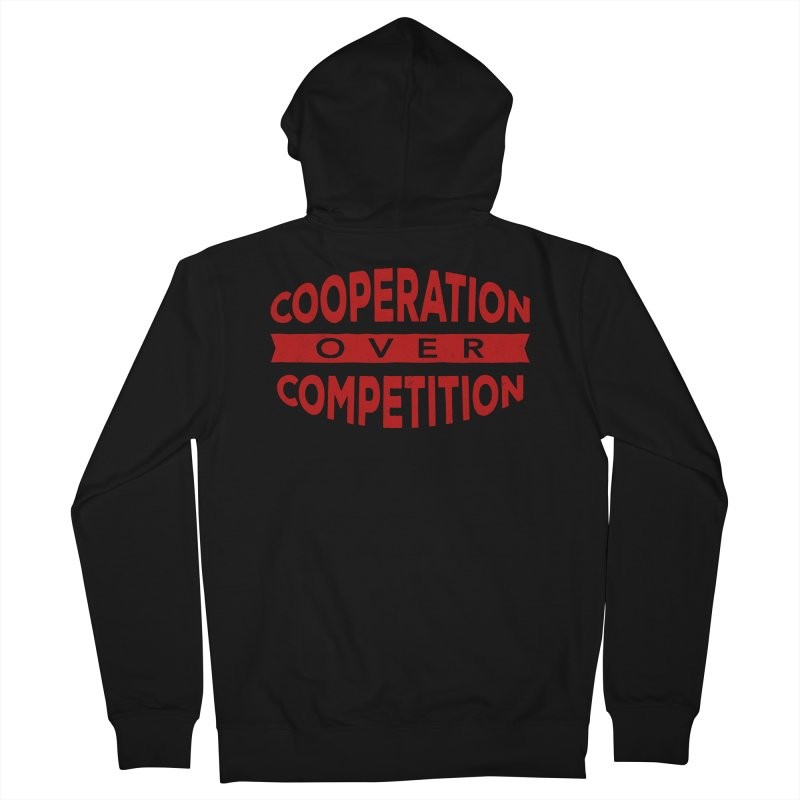 Cooperation Over Competition Men's Zip-Up Hoody by donvagabond's Artist Shop