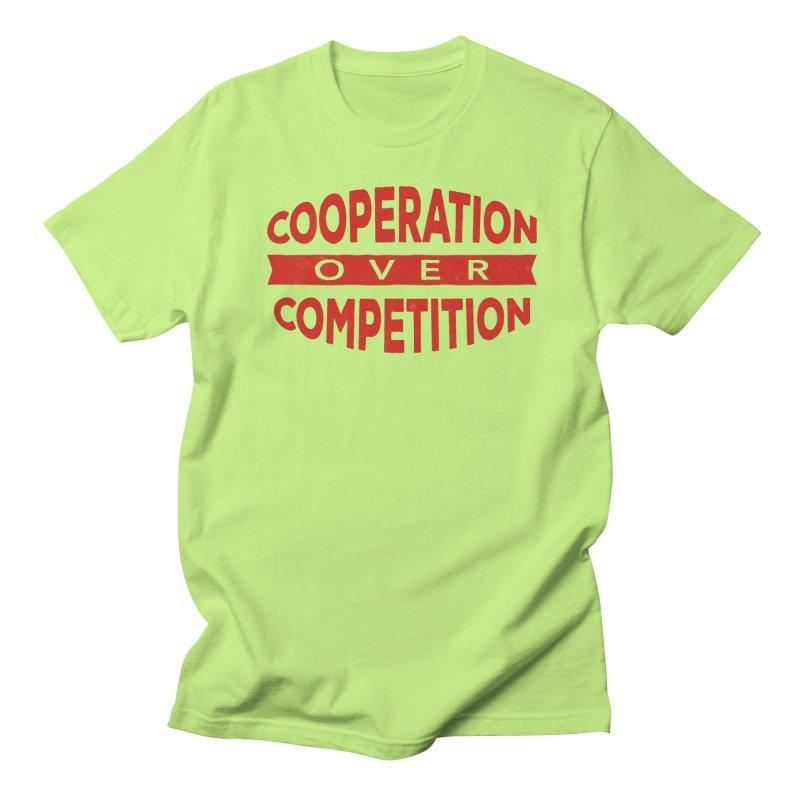 Cooperation Over Competition Men's Regular T-Shirt by donvagabond's Artist Shop