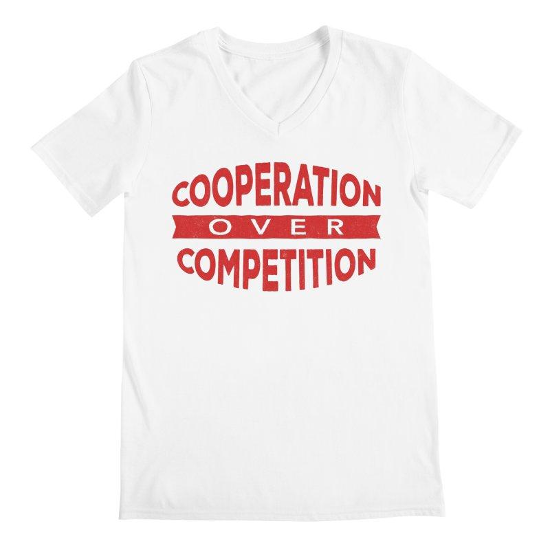 Cooperation Over Competition Men's Regular V-Neck by donvagabond's Artist Shop