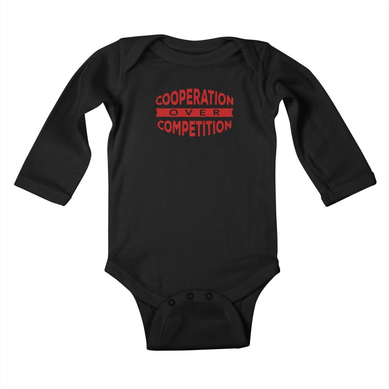 Cooperation Over Competition Kids Baby Longsleeve Bodysuit by donvagabond's Artist Shop