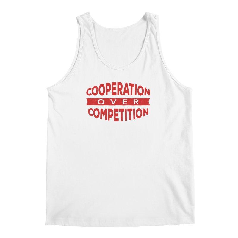 Cooperation Over Competition Men's Regular Tank by Don Vagabond's Artist Shop
