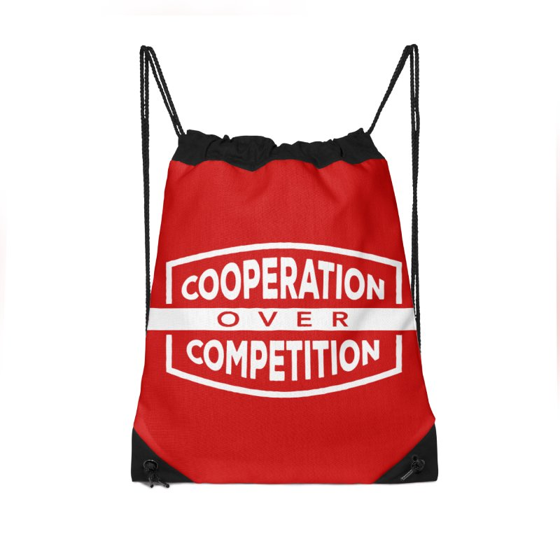 Cooperation Over Competition variant Accessories Drawstring Bag Bag by Don Vagabond's Artist Shop