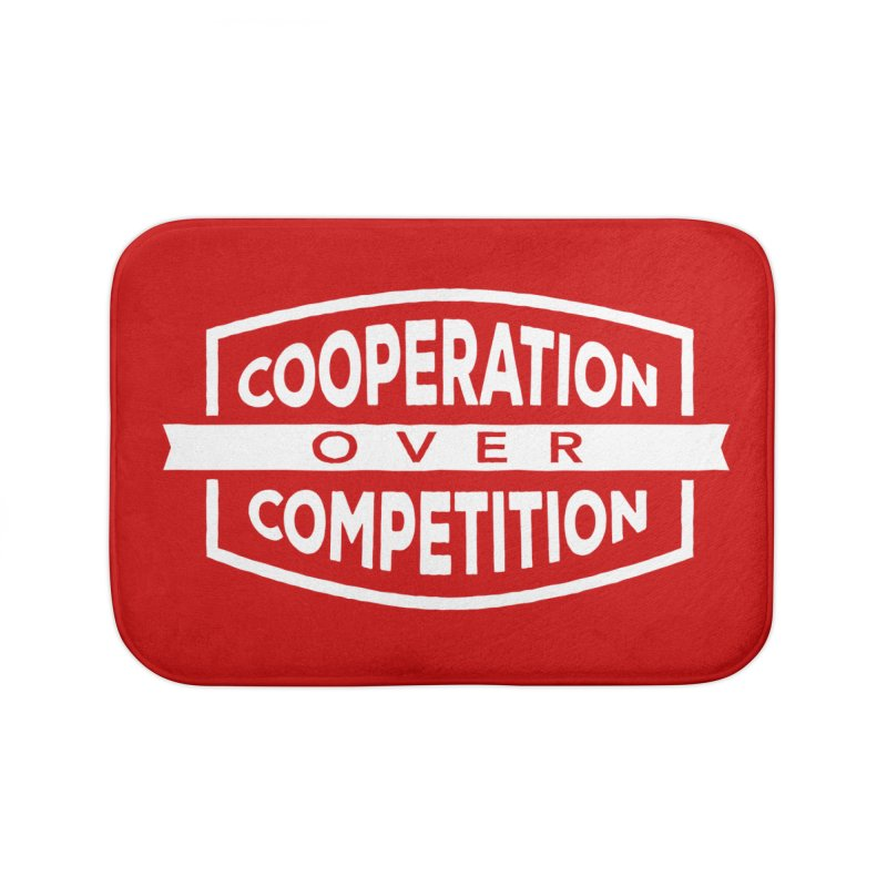Cooperation Over Competition variant Home Bath Mat by Don Vagabond's Artist Shop