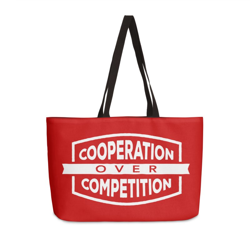 Cooperation Over Competition variant Accessories Weekender Bag Bag by Don Vagabond's Artist Shop