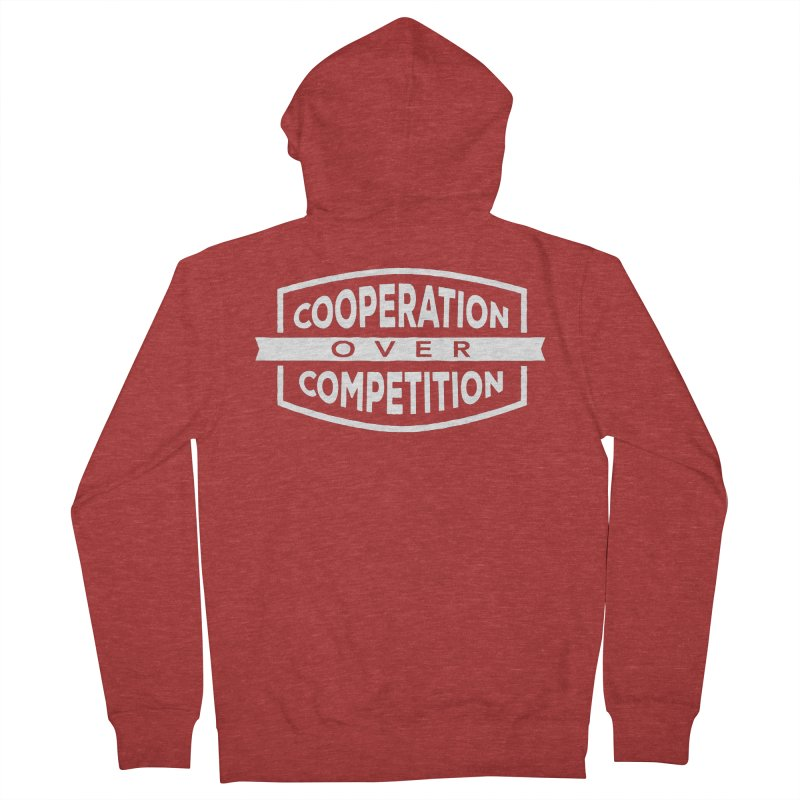 Cooperation Over Competition variant Women's French Terry Zip-Up Hoody by donvagabond's Artist Shop