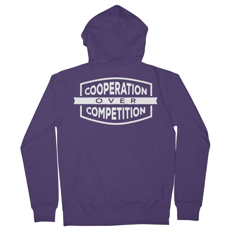 Cooperation Over Competition variant Women's French Terry Zip-Up Hoody by Don Vagabond's Artist Shop