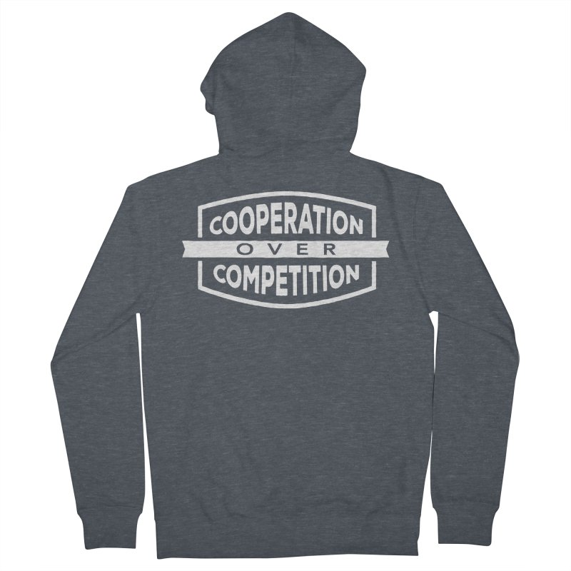 Cooperation Over Competition variant Men's French Terry Zip-Up Hoody by donvagabond's Artist Shop