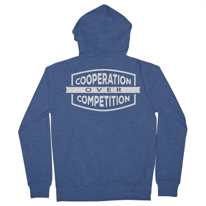 Cooperation Over Competition variant Men's Zip-Up Hoody by donvagabond's Artist Shop