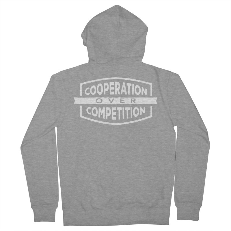Cooperation Over Competition variant Men's French Terry Zip-Up Hoody by Don Vagabond's Artist Shop
