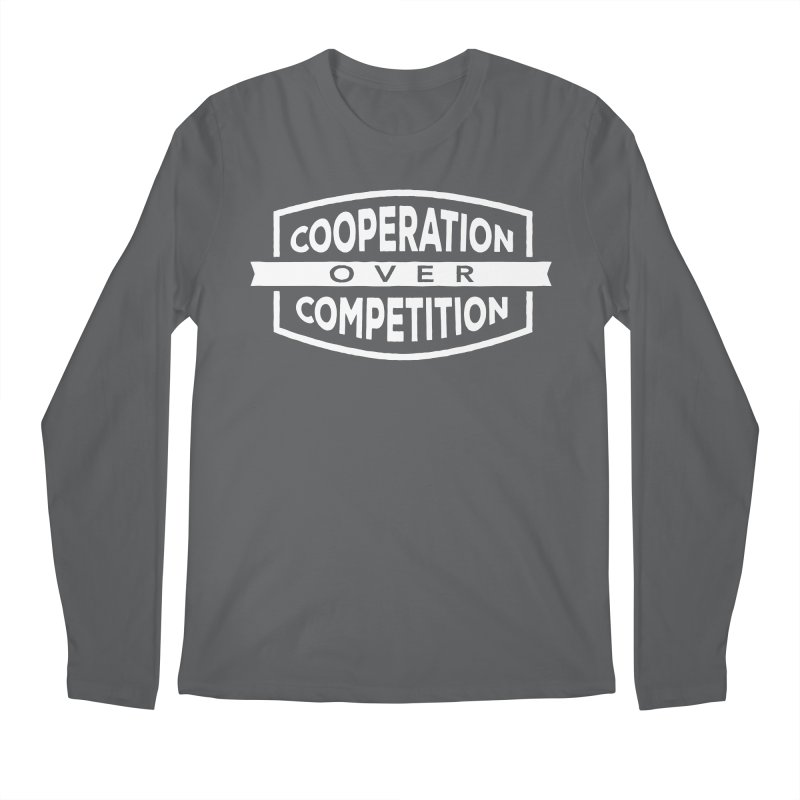 Cooperation Over Competition variant Men's Regular Longsleeve T-Shirt by donvagabond's Artist Shop