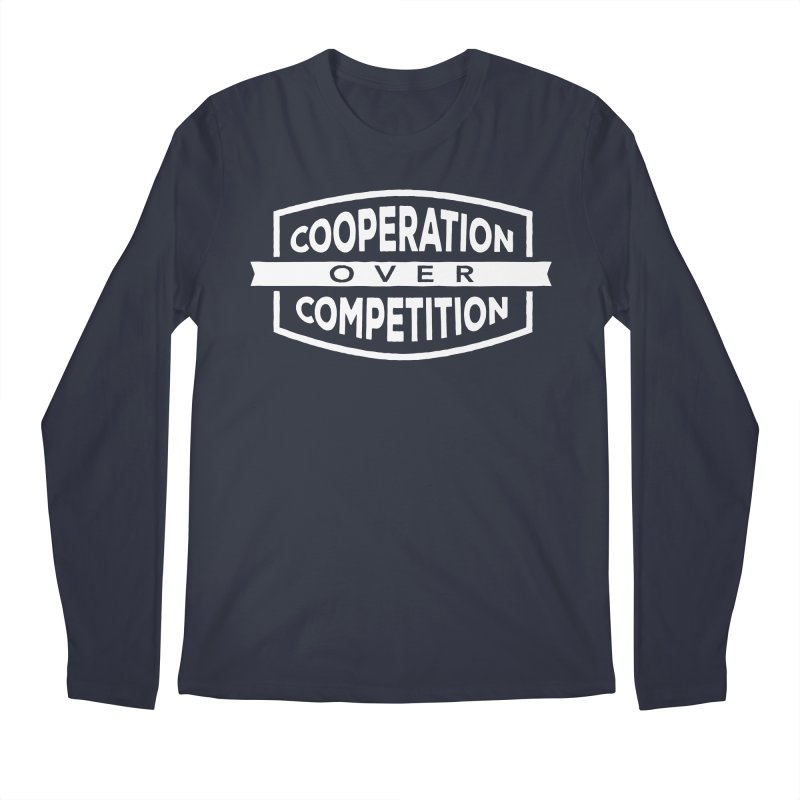 Cooperation Over Competition variant Men's Longsleeve T-Shirt by donvagabond's Artist Shop