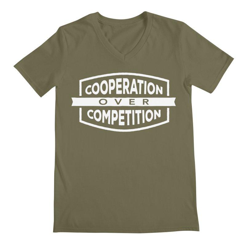 Cooperation Over Competition variant Men's V-Neck by donvagabond's Artist Shop