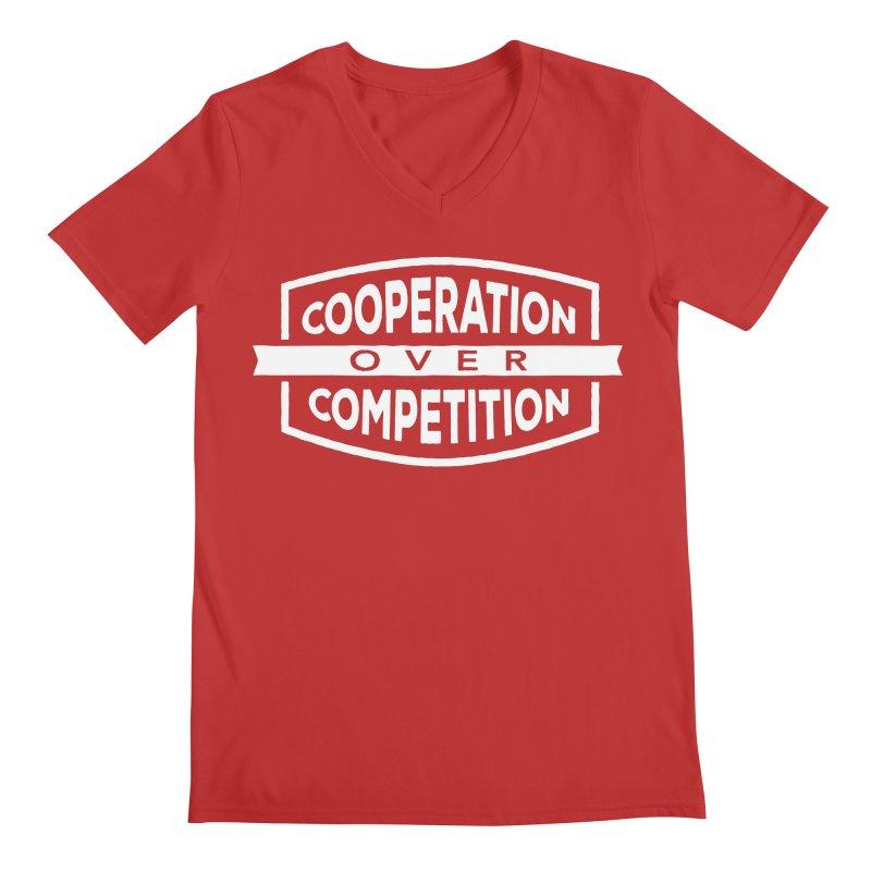 Cooperation Over Competition variant Men's Regular V-Neck by donvagabond's Artist Shop