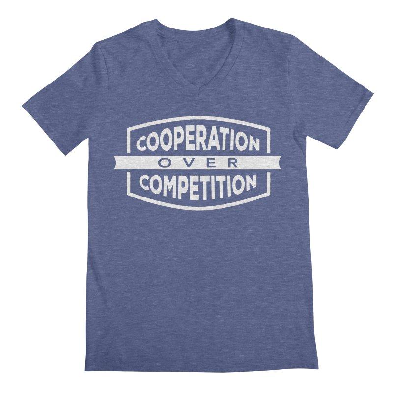 Cooperation Over Competition variant Men's Regular V-Neck by Don Vagabond's Artist Shop
