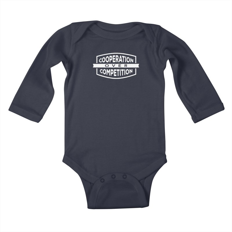 Cooperation Over Competition variant Kids Baby Longsleeve Bodysuit by donvagabond's Artist Shop