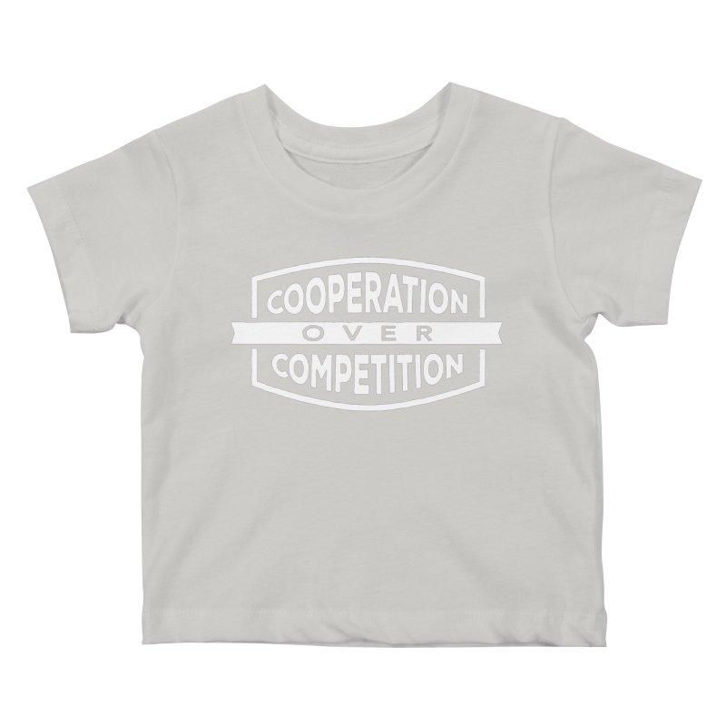 Cooperation Over Competition variant Kids Baby T-Shirt by donvagabond's Artist Shop