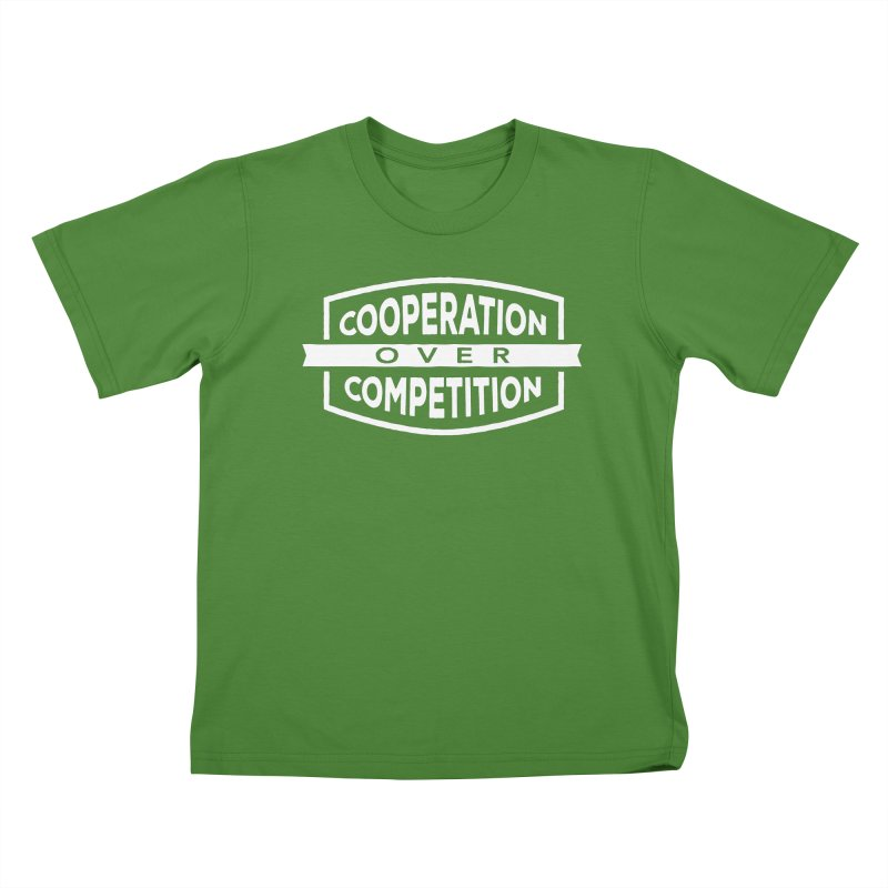 Cooperation Over Competition variant Kids T-Shirt by donvagabond's Artist Shop
