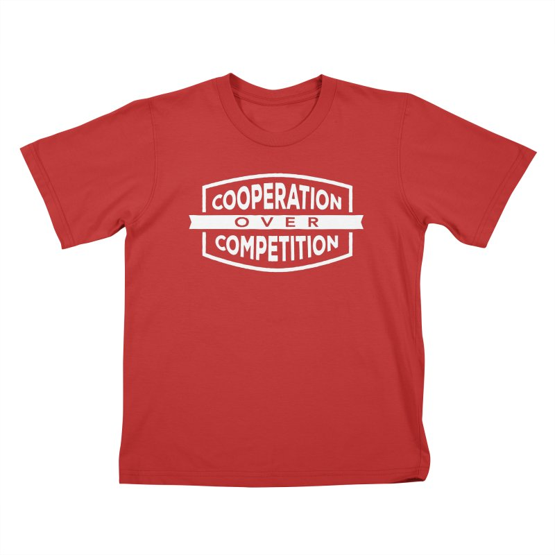 Cooperation Over Competition variant Kids T-Shirt by Don Vagabond's Artist Shop