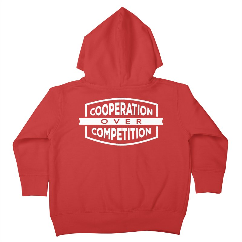 Cooperation Over Competition variant Kids Toddler Zip-Up Hoody by Don Vagabond's Artist Shop