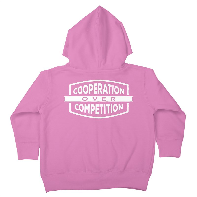 Cooperation Over Competition variant Kids Toddler Zip-Up Hoody by donvagabond's Artist Shop