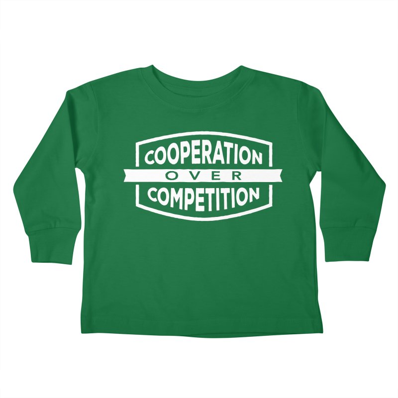 Cooperation Over Competition variant Kids Toddler Longsleeve T-Shirt by Don Vagabond's Artist Shop