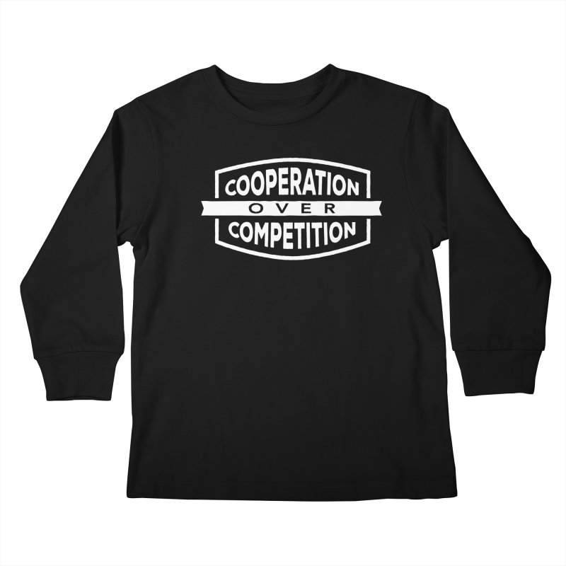 Cooperation Over Competition variant Kids Longsleeve T-Shirt by Don Vagabond's Artist Shop