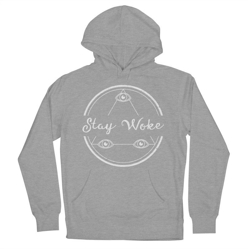 Stay Woke (white) Men's Pullover Hoody by donvagabond's Artist Shop