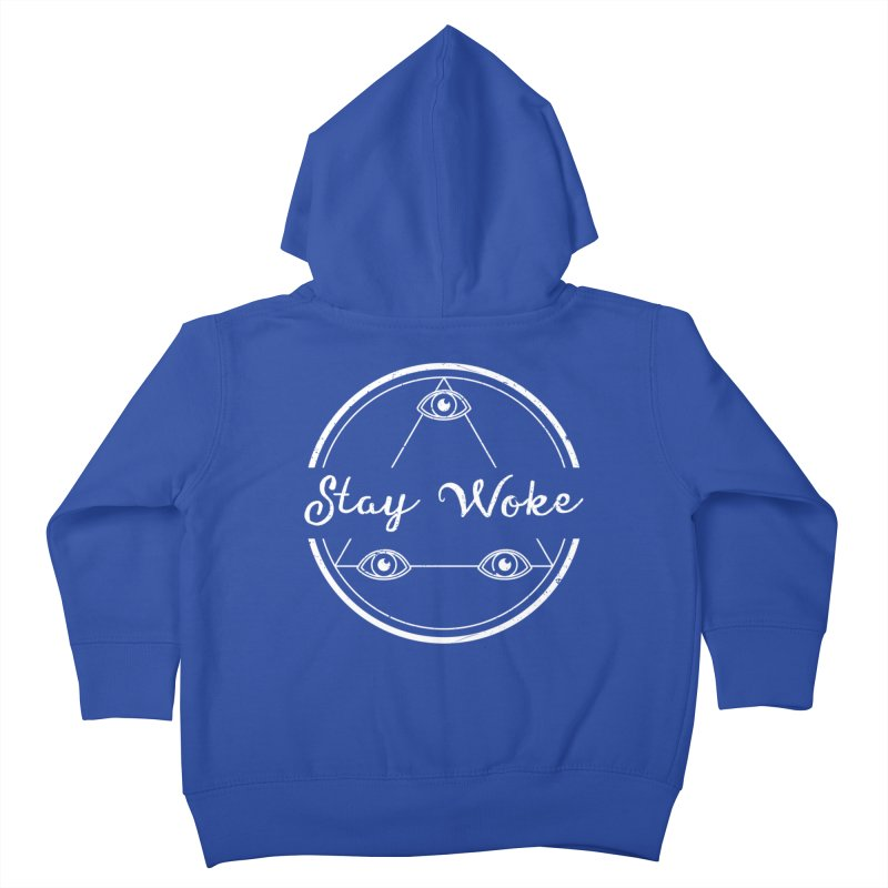 Stay Woke (white) Kids Toddler Zip-Up Hoody by donvagabond's Artist Shop