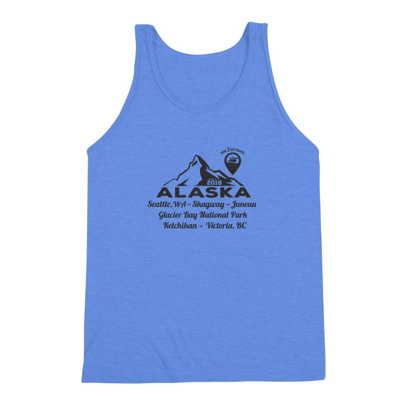 Time 2 Go Alaska Men's Triblend Tank by donvagabond's Artist Shop