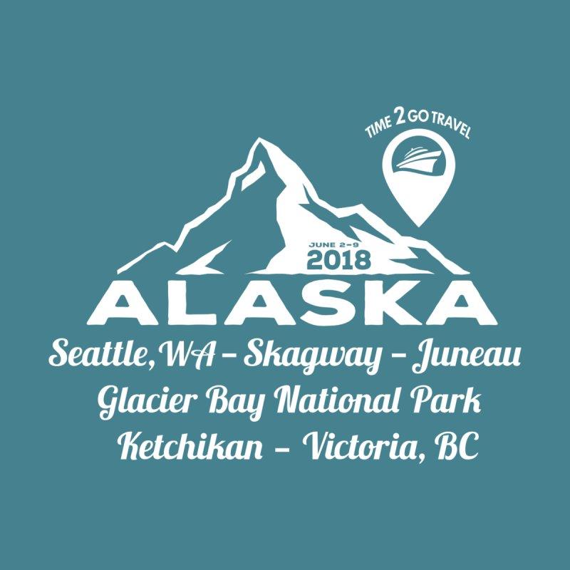 Time 2 Go Alaska white Men's Pullover Hoody by Don Vagabond's Artist Shop