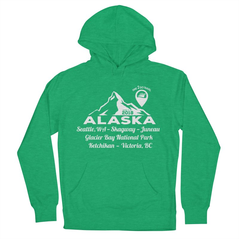 Time 2 Go Alaska white Women's French Terry Pullover Hoody by Don Vagabond's Artist Shop