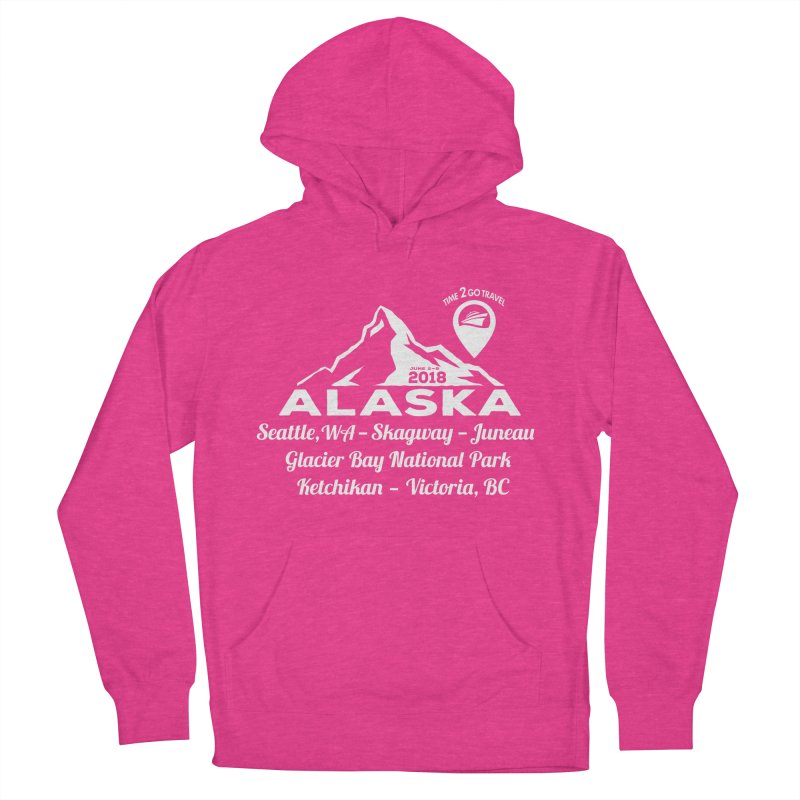 Time 2 Go Alaska white Men's French Terry Pullover Hoody by Don Vagabond's Artist Shop