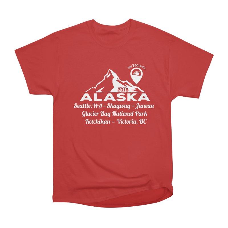 Time 2 Go Alaska white Men's Classic T-Shirt by donvagabond's Artist Shop