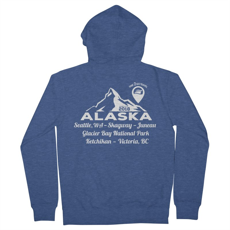Time 2 Go Alaska white Women's French Terry Zip-Up Hoody by Don Vagabond's Artist Shop