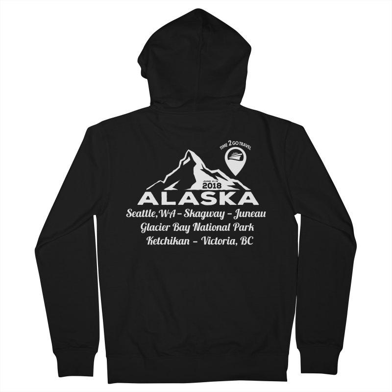 Time 2 Go Alaska white Women's Zip-Up Hoody by donvagabond's Artist Shop